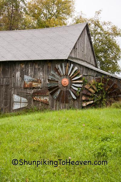 Windmill Art on Barn, Portage County, Wisconsin