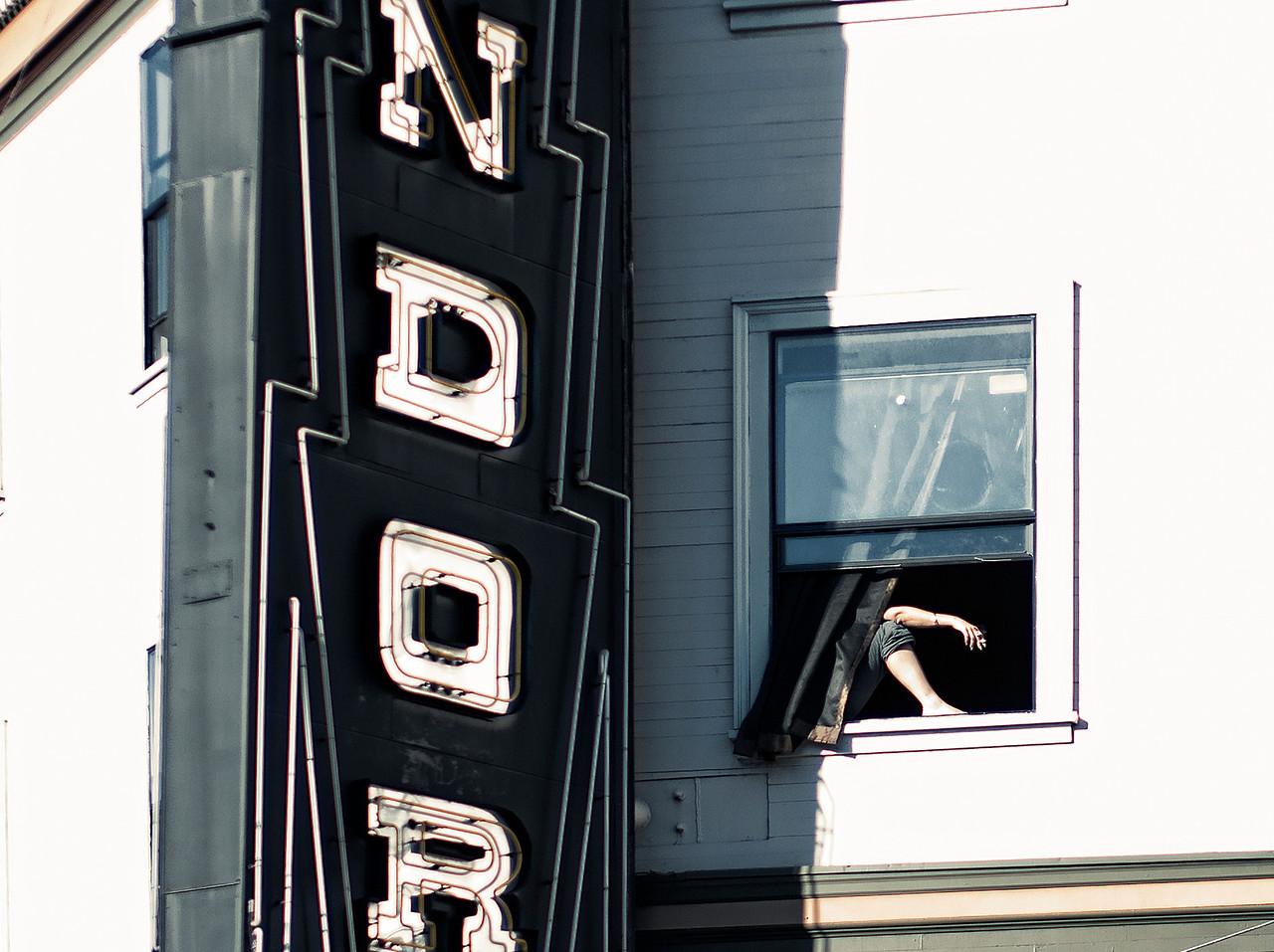 Those Hot SF Days.  Condor Club in North Beach.