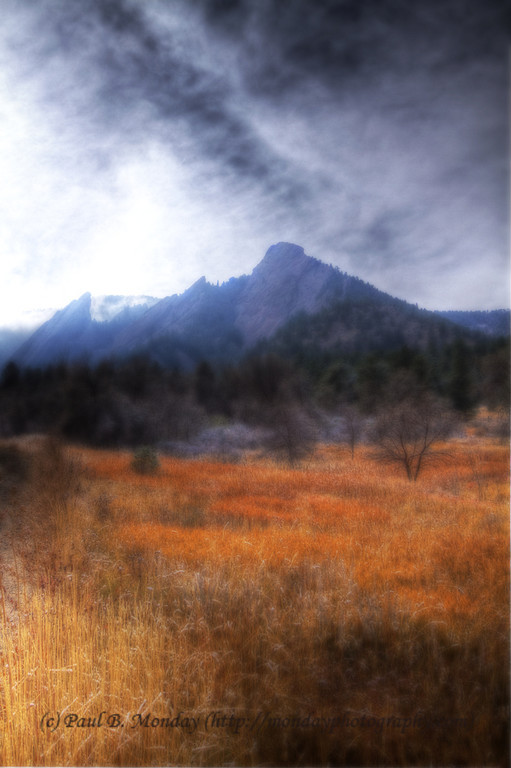 The Color of Winter at the Flatirons