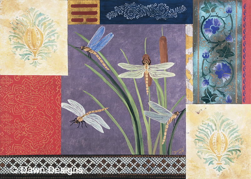 Wealth and Prosperity<br /> Generating opportunities for increased income, raising money for charity, bringing fortunate blessings and an abundance of good things into your life. The dragonflies represent light, brightness and the color of transformation. The pineapples symbolize welcoming and hospitality, and invite good luck. The trigram Sun represents the wind spreading ideas and opportunities.