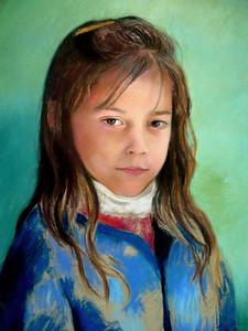 Pastel Sketch of Ashley Lynch
