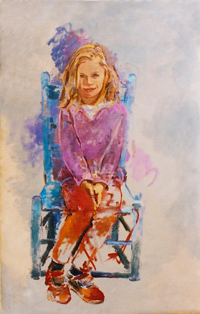Ella, oil sketch private collection