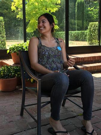 Lauren at the Filoli Sculpture Exhibit in the Garden. July, 2015.
