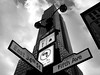 Empire State Building And Street Signs<br /> Black & White version