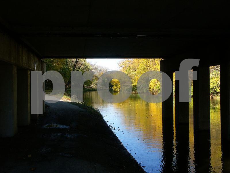 Canal Under Bridge as Frame