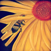 "Photo of original pastel by Nancy Ann 3/13...""Pollina Bee""....Love our pollinators!"