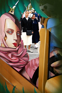 Art deco painted beauty welcomes all -