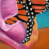 Butterfly in Rose of Sharon Pastel by Nancy Ann