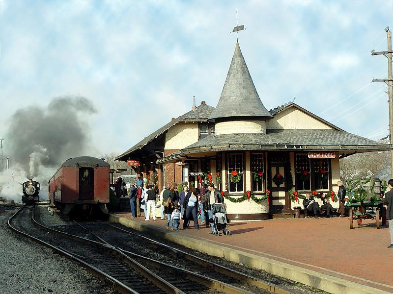 Train Station Watercolor