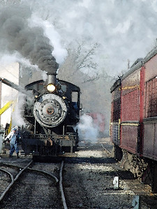 Steam Train Watercolor