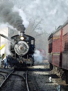 Steam Train Watercolor