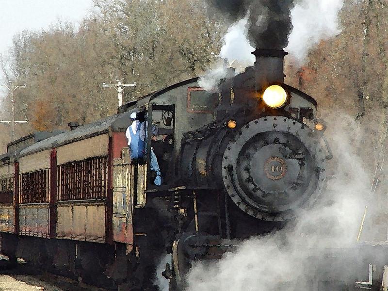 Locomotive Watercolor