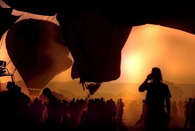 Mass Ascension - Albuqurque, New Mexico Balloon Fest - waiting for lift off
