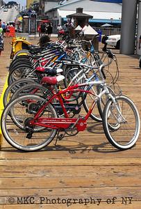 Bikes on the Santa Monica Pier