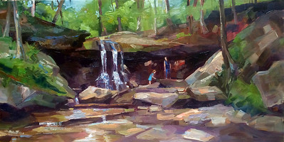 Blue Hen Falls • 12x24 • Oil on Panel • $450