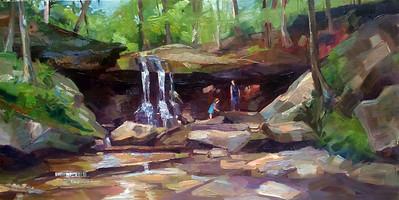 Blue Hen Falls • 12x24 • Oil on Panel • $450