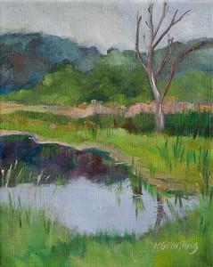 Deer in the Marsh–$170 10x8