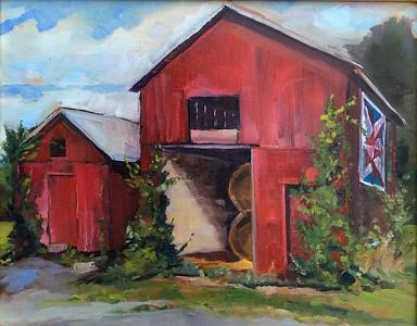The Quilt Barn–$250 unframed 11x14