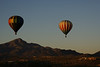 Hot Air Balloons over Tucson Mountains, Arizona