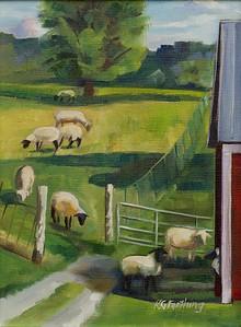 Little Bo Sheep, 12x9, $190 framed