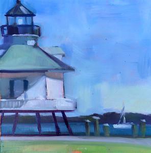 The Little Lighthouse– $115 framed 8x8
