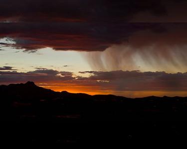 Monsoon Storm at Sunset over Tucson Mountains, Arizona