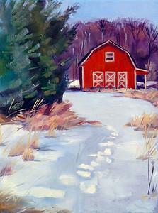 A Warm Snow Day–$210 framed 12x9