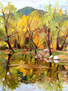 The Fishing Pond– $230 framed 12x9