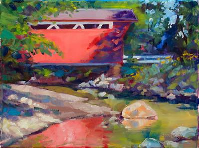 Everett Bridge–$225 framed 9x12