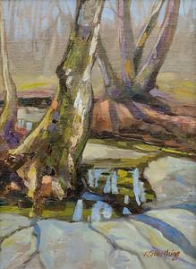 Sprinkle of Sunlight 12x9, $225 framed