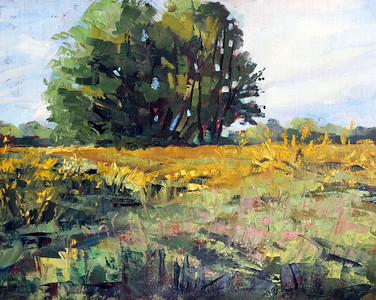 Springfield Prairie, Oil on linen panel 11x14 $375