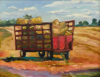 The Red Wagon, 11x14, $240