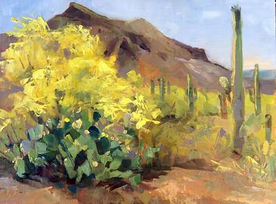 Desert Spring 9x12 oil on panel