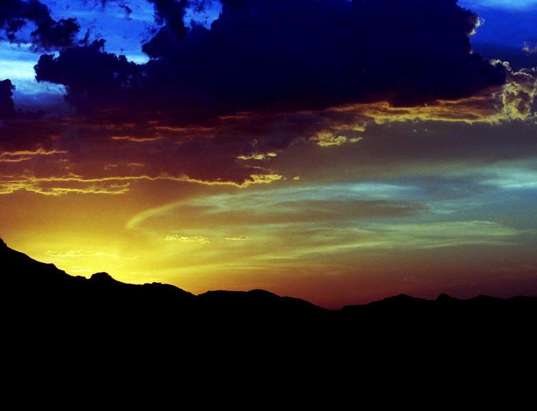Sunset over Tucson Mountains, Arizona