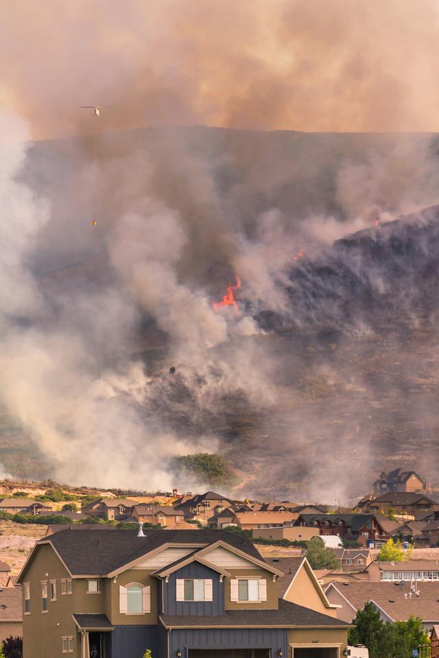 Herriman Rose Canyon fire