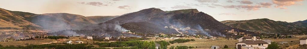 Herriman Rose Canyon burn marks
