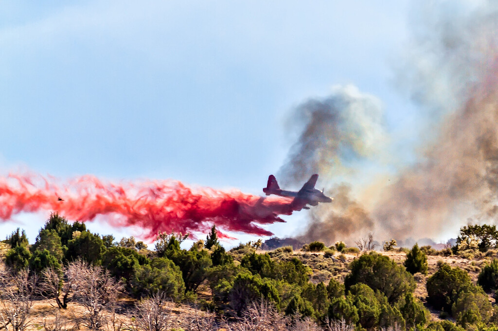 173 of my 365 project;  Lockheed P-2 Neptune - aerial firefighting