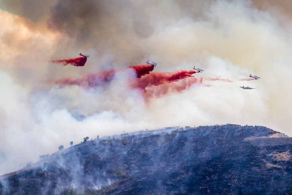 Herriman Rose Canyon fire; drop sequence