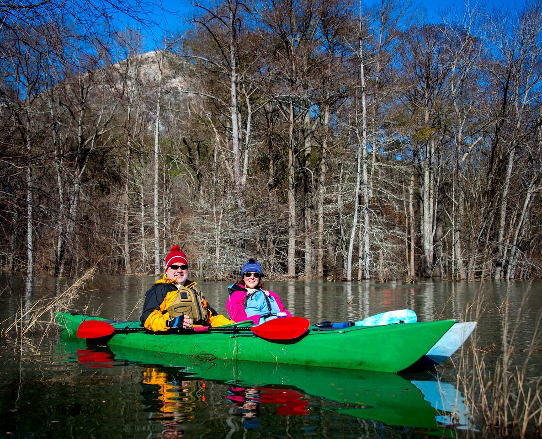 Kayaking Couple
