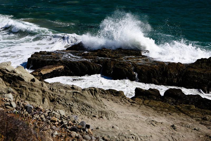 Waves breaking on the Malibu coastline<br /> September 2011