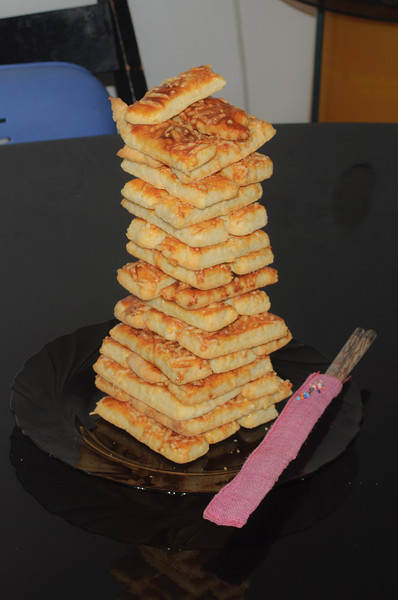 Pyramid of cookies