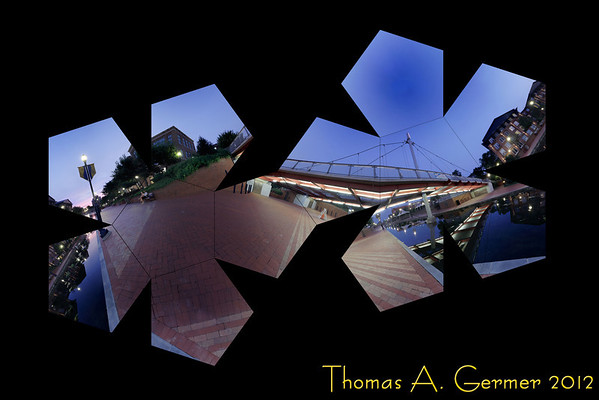 """Carroll Creek at Night"" - Flattened dodecahedron"