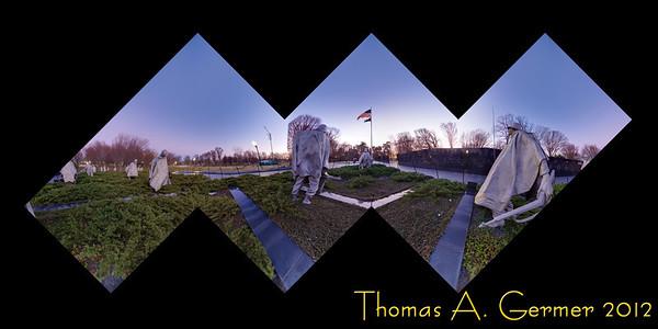 Korean War Memorial Flattened Cube