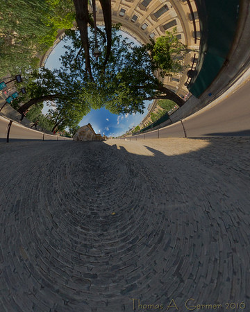 Institut de France (Stereo 4), Spherical panorama, stereographic projection