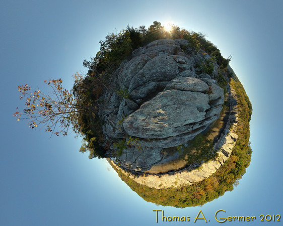 Sunrise over the Billy Goat Trail, C&O Canal National Historic Park, near Great Falls.