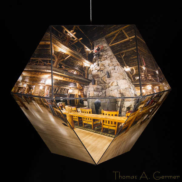 Old Faithful Inn, Cuboctahedron, Spherical Panorama, Photographic Sculpture