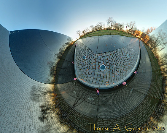 Vietnam War Memorial Stereographic 3