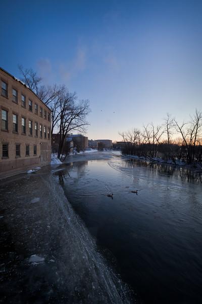 Dawn, Fox River, December 2010