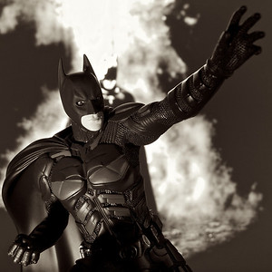 I am The Dark Knight// Macro Monochrome//
