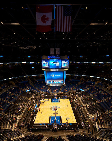 Inside the Amway Center // Home of the Orlando Magic //